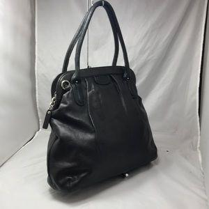 Banana Republic Bags - BANANA REPUBLIC Black Glove Leather Framed Satchel